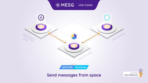 Send messages from space on the Bitcoin network 🛰